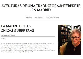 Entrevista a Pilar Ramírez Tello por Aída González del Álamo