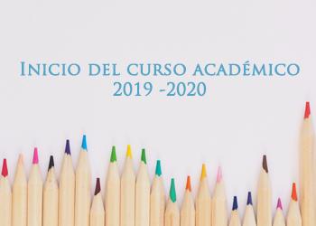 INICIO DEL CURSO ACADÉMICO 2019-2020