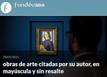 Recomendación Fundéu: «obras de arte citadas por su autor»