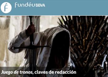 Recomendación Fundéu: «Claves de redacción de Juego de tronos»
