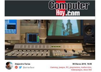 Visitamos un estudio de doblaje de videojuegos en Madrid (por Alejandro Fariza)